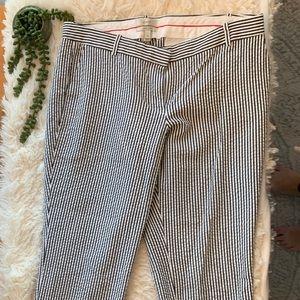 J. Crew Pants - J. Crew Cafe Capri Seersucker Pants